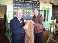 Irvin Flying Jacket presented to museum.
